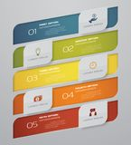 Infographic design elements for your business with 5 options. 5 steps timeline presentation. EPS 10 Stock Image