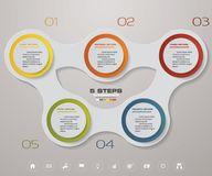 Infographic design elements for your business with 5 options. 5 steps timeline presentation. EPS 10 Stock Photography