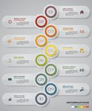 Infographic design elements for your business with 10 options. 10 steps timeline presentation. EPS 10 Stock Image
