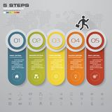 Infographic design elements for your business with 5 options. 5 steps timeline presentation. EPS 10 Royalty Free Stock Images