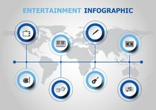 Infographic design with entertainment icons. Stock vector Stock Photos