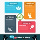 Infographic design för modernt bubblabaner Arkivbilder