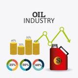 Infographic design för oljor och för oljeindustri Royaltyfri Bild