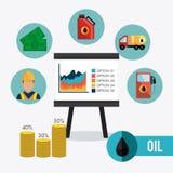 Infographic design för oljor och för oljeindustri Royaltyfria Bilder