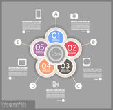Infographic design för produktrang vektor illustrationer