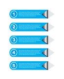 Infographic design för produktrang Stock Illustrationer