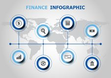 Infographic design with finance icons Royalty Free Stock Photo