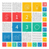 Infographic design. Flat user interface. Vector Stock Images