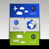 Infographic Design - Flyer Or Cover Stock Image