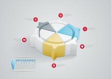 Infographic design för pajdiagram Royaltyfri Bild