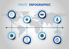 Infographic design with fruit icons Royalty Free Stock Photography