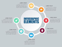 Infographic design. On the grey background Stock Image