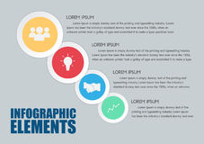 Infographic design. On the grey background Royalty Free Stock Photo