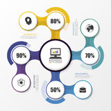 Infographic design on the grey background. Business concept. Vector Royalty Free Stock Images