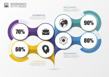 Infographic design on the grey background. Business concept. Vector Stock Photo