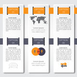 Infographic design on the grey background. Eps 10 vector file. Royalty Free Stock Images