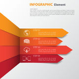 Infographic design on the grey background. Eps 10 vector file. Royalty Free Stock Photos