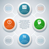Infographic design on the grey background. Eps 10 vector file Stock Photos