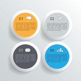 Infographic design on the grey background. Eps 10 vector file. Stock Photo