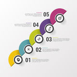 Infographic design on the grey background. Modern template. Vector illustration.  Stock Photos