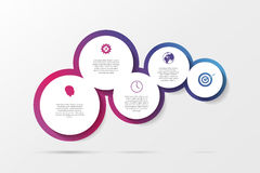 Infographic design on the grey background. Vector Royalty Free Stock Photography