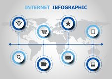 Infographic design with internet icons Royalty Free Stock Photo