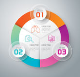 Infographic design and marketing icons. Abstract 3D digital illustration Infographic. Vector illustration can be used for workflow layout, diagram, number Royalty Free Stock Image