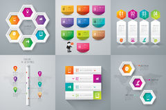 Infographic design and marketing icons. Stock Photos