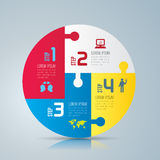 Infographic design and marketing icons. Abstract 3D digital illustration Infographic. Vector illustration can be used for workflow layout, diagram, number Royalty Free Stock Photography