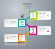 Infographic design and marketing icons. Abstract 3D digital illustration Infographic. Vector illustration can be used for workflow layout, diagram, number Royalty Free Stock Photo