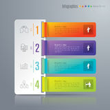 Infographic design and marketing icons. Abstract 3D digital illustration Infographic. Vector illustration can be used for workflow layout, diagram, number Stock Photography