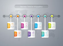 Infographic design and marketing icons. Royalty Free Stock Photos