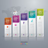 Infographic design and marketing icons. Abstract 3D digital illustration Infographic. Vector illustration can be used for workflow layout, diagram, number vector illustration