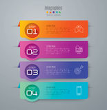 Infographic design and marketing icons. Abstract 3D digital illustration Infographic. Vector illustration can be used for workflow layout, diagram, number Royalty Free Stock Images