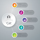 Infographic design and marketing icons. Royalty Free Stock Image