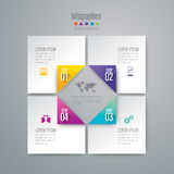Infographic design and marketing icons. Abstract 3D digital illustration Infographic. Vector illustration can be used for workflow layout, diagram, number Stock Image