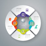 Infographic design and marketing icons. Abstract 3D digital illustration Infographic. Vector illustration can be used for workflow layout, diagram, number Stock Photo