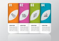 Infographic design  and marketing icons can be used for workflow layout, diagram, annual report, web design. Business concep. T with 4 options, steps or Royalty Free Stock Photography