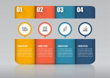 Infographic design  and marketing icons can be used for workflow layout, diagram, annual report, web design. Business concep. T with 4 options, steps or Stock Photo