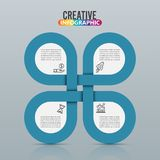 Infographic design  and marketing icons can be used for workflow layout, diagram, annual report, web design. Business concep. T with 5 options, steps or Stock Photo