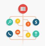 Infographic design med idérika symboler vektor illustrationer