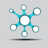 Infographic-Design mit den farbigen und weißen Kreisen Stockfotografie