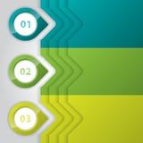 Infographic-Design mit glatten Zeigern Lizenzfreies Stockfoto