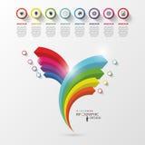 Infographic design. Modern arrow business template. Vector Royalty Free Stock Photos