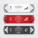 Infographic Design modern Vintage  Labels  template. Royalty Free Stock Photography