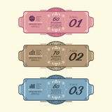 Infographic Design modern Vintage  Labels  template. Stock Image