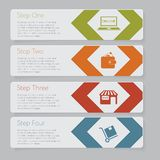 Infographic. Design number banners template graphic or website layout Stock Images