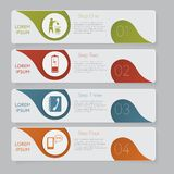 Infographic. Design number banners template graphic or website layout Stock Image