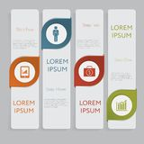 Infographic. Design number banners template graphic or website layout. With icon Stock Image