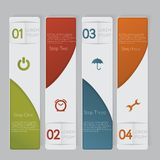 Infographic. Design number banners template graphic or website layout Royalty Free Stock Photography